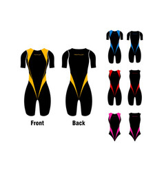 triathlon clothes vector image