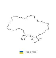 ukraine map line linear thin ukraine vector image