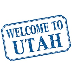 Utah - welcome blue vintage isolated label vector