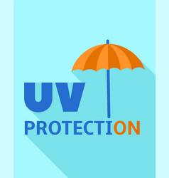 Uv protection logo flat style vector