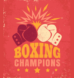 Vintage poster for a boxing vector