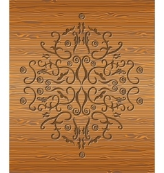 Wood texture with abstraction vector