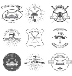 Auto Upholstery Vintage Badges and Labels vector image