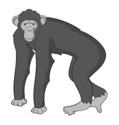 chimpanzee icon monochrome vector image vector image