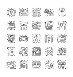 Line Icons With Detail 2 vector image