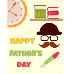 poster happy fathers day vector image vector image