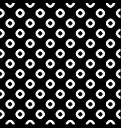 seamless pattern black white rings vector image