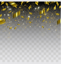 Abstract background with gold confetti vector