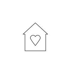 favorite home icon vector image