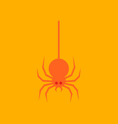 flat icon stylish background halloween spider vector image