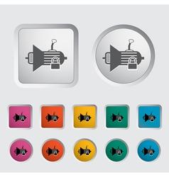 Gear lever lock vector image vector image