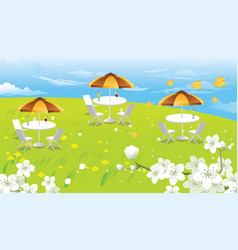 hilltop picnic vector image