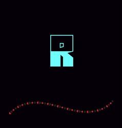letter R-01 vector image