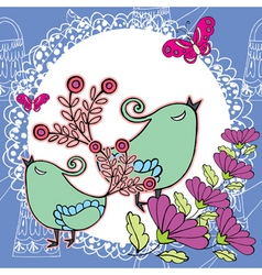 peacock doily pattern vector image vector image