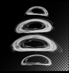realistic cigarette smoke waves 3d vector image vector image