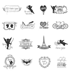 Scrapbook Design Elements - Valentines Love Set vector image vector image