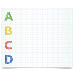ABCD - pen style vector image