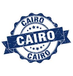 cairo round ribbon seal vector image vector image