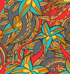 floral pattern with colorful blooming flowers vector image vector image
