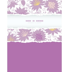 Purple shadow florals vertical torn frame seamless vector image vector image