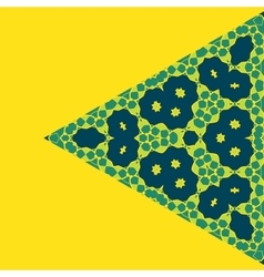 Triangle Green on Yellow Symmetry Ornament Pattern vector image