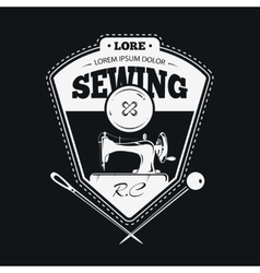 Vintage fashion clothing labels or handmade sewing vector image