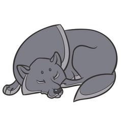 Wild wolf sleep peacefully vector
