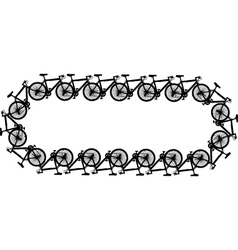 bicycle chain vector image