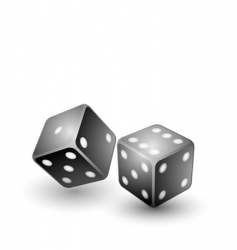 black dices vector image