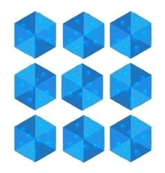 Cartoon isometric water game brick cube vector image