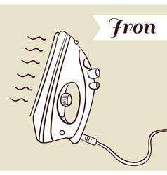 Iron On Beige Background vector image