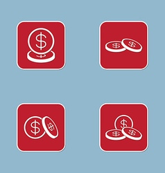 money coin icon set vector image