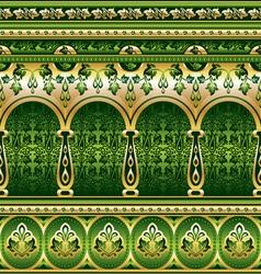 silk green ornament vector image vector image
