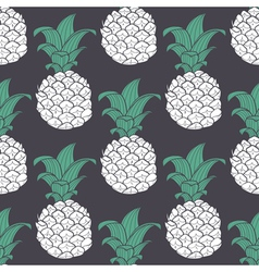 Violet geometric seamless pattern with pineapple vector image vector image