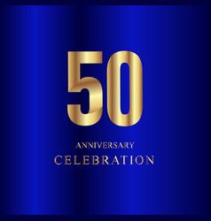 50 year anniversary celebration gold blue vector