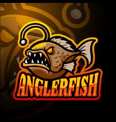 Anglerfish esport logo mascot design vector