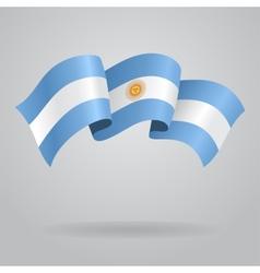 Argentine waving flag vector