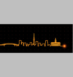 auckland light streak skyline vector image