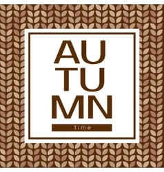 Autumn time poster on a seamless background vector