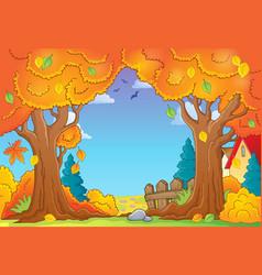 autumn tree theme composition 1 vector image