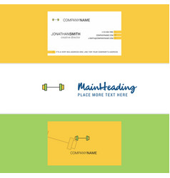 beautiful gym rod logo and business card vertical vector image