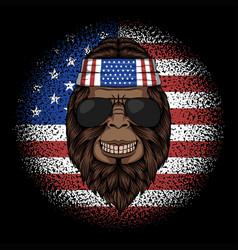 Bigfoot america bandana vector