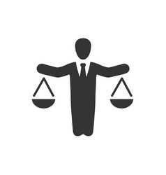 business law icon vector image