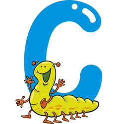 C for caterpillar vector image