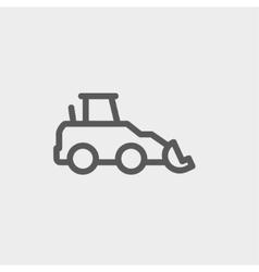 Car dumper thin line icon vector