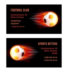 Card Football Ball with fire vector