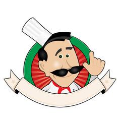 Chef restaurant banner vector