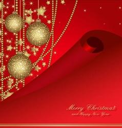 Christmas postcard with balls vector
