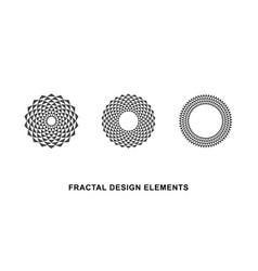 Circular fractal design elements vector