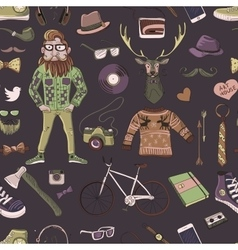 Colored hand-drawn Hipster style pattern vector image
